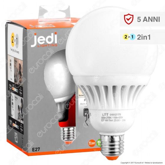 Jedi Lighting Lampadina LED E27 14W 2in1 Globo G100