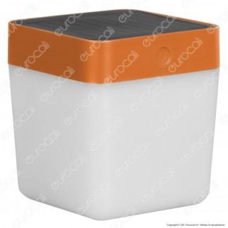 Lutec Lampada da Tavolo Solare Cube 1W con Pannello Solare - Disponibile in 4 Colorazioni
