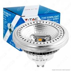 V-Tac VT-1112 Lampadina LED AR111 GU10 12W Faretto da Incasso 40° - SKU 4224 / 4223 / 4225