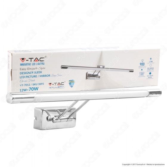 V-Tac VT-7012 Lampada da Specchio Wall Light Cromata 12W - SKU 3895