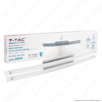 V-Tac VT-7038 Lampada da Specchio Wall Light Cromata 36W - SKU 3899