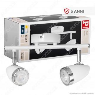 Paulmann Portafaretto Root Track Light Orientabile con 2 Lampadine LED 3,5W GU10
