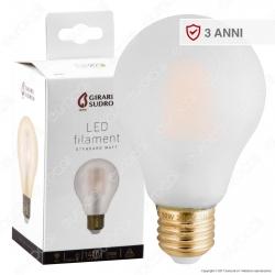 Girard Sudron Lampadina LED E27 10W Bulb A70 Frost Filamento - mod. 28663