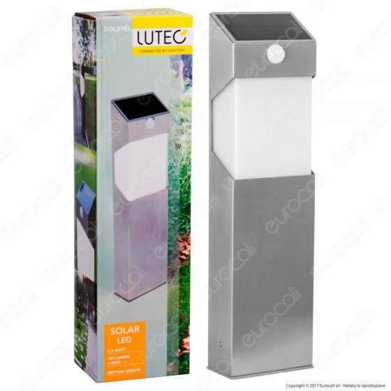 Lutec Lampada LED da Terra 2,3W con Pannello Solare e Sensore di Movimento