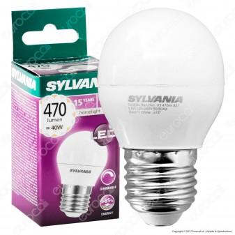 Sylvania ToLEDo Ball Lampadina LED E27 5,6W MiniGlobo G45 Dimmerabile