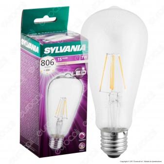 Sylvania ToLEDo Retro Lampadina LED E27 7,5W Bulb ST64 Filamento Dimmerabile