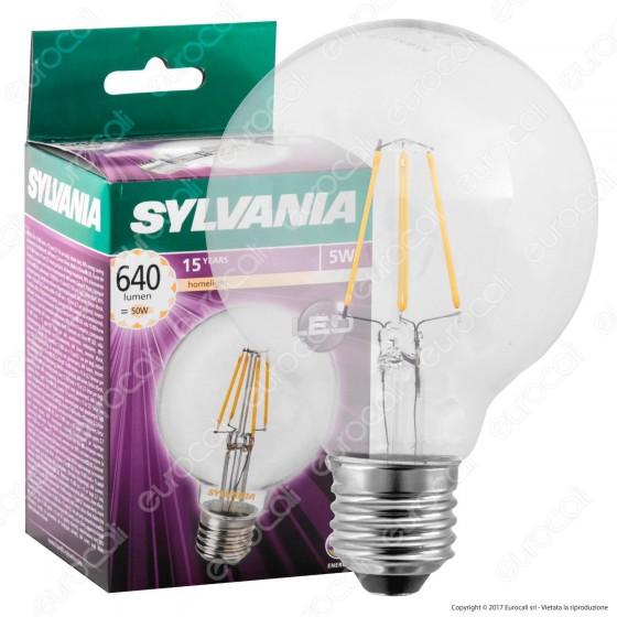 Sylvania ToLEDo Retro Lampadina LED E27 5W Globo G80 Filamento