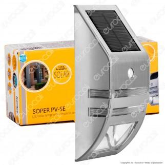 Kanlux Soper PV-SE Lampada da Muro LED 0,16W con Pannello Solare e Sensore di Movimento