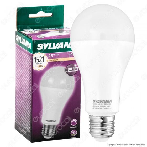 Sylvania ToLEDo Lampadina LED E27 16W Bulb A66 Dimmerabile