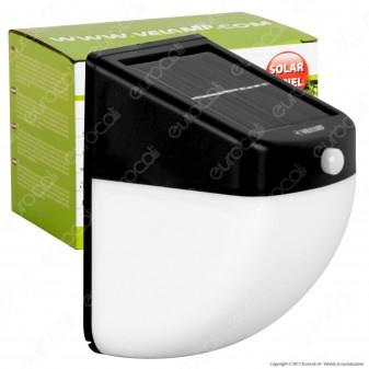 Velamp IS306 Lampada LED da Muro 1W con Pannello Solare e Sensore di Movimento