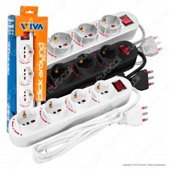 Wiva Click Around Multipresa 4 Posti ad Alveoli Rotanti