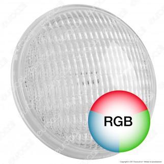 Wiva Lampada LED da Piscina PAR56 24W IP68 Multicolore RGB 12V Attacco a Vite
