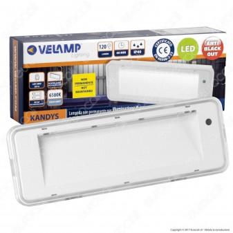 Velamp Lampada LED 120lm Kandys d'Emergenza Anti Black Out Grado Protezione IP40