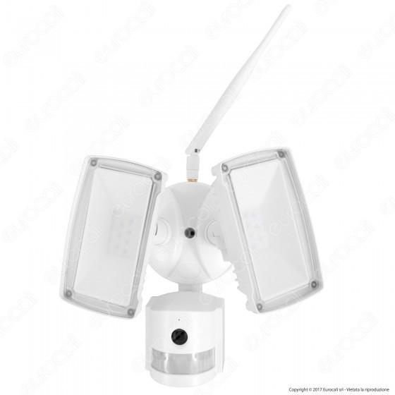 V-Tac VT-4818 Faretto LED Di Sicurezza 18W con Sensore e Telecamera WiFi Colore Bianco - SKU 5745
