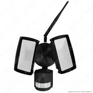 V-Tac VT-4818 Faretto LED Di Sicurezza 18W con Sensore e Telecamera WiFi Colore Nero - SKU 5917