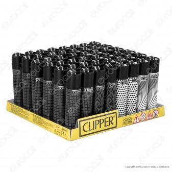 Clipper Large Fantasia Texture Tronex - Box da 48 Accendini