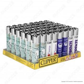Clipper Large Fantasia Firenze - Box da 48 Accendini