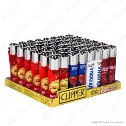 Clipper Large Fantasia Souvenir Bologna - Box da 48 Accendini