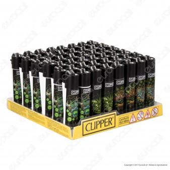 Clipper Micro Fantasia Monster Leaves - Box da 48 Accendini