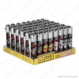 Clipper Micro Fantasia Crazy Animals - Box da 48 Accendini