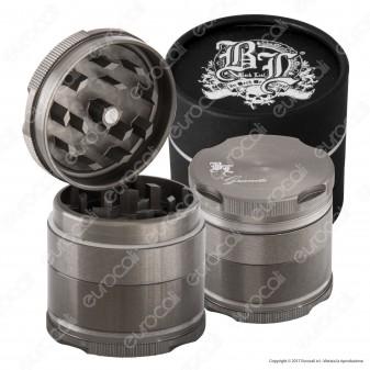 Grinder Tritatabacco Black Leaf 4 Parti in Alluminio Anodizzato
