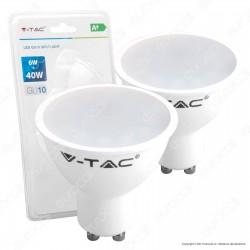 V-Tac VT-2107 Duo Pack Confezione 2 Faretti LED GU10 6W Spotlight - SKU 7303