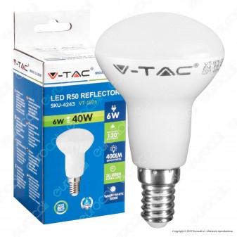 V-Tac VT-1876 Lampadina LED E14 6W Bulb Reflector R50 - SKU 4243 / 4138 / 4246