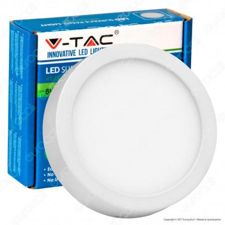 V-Tac VT-605 RD Pannello LED Rotondo 6W con Driver - SKU 4904 / 4905 / 4906