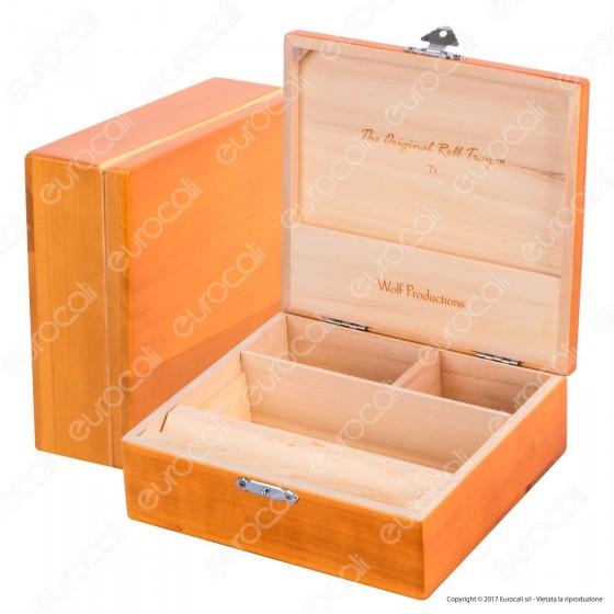 Spliff Box Deluxe T3 Stazione di Rollaggio in Legno - Wolf Production Original Roll Tray