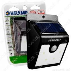 Velamp Dory SL210 Lampada LED da Muro 0,8W con Pannello Solare e Sensore di Movimento - mod.SL210