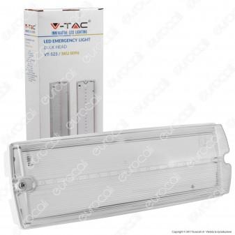 V-Tac VT-523 Lampada LED 140lm d'Emergenza Anti Black Out Grado Protezione IP65