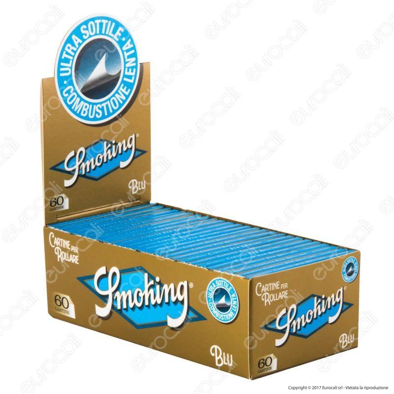 FILTRI smoking SLIM 6 mm 1 box CARTINE smoking BLU corte 1 box