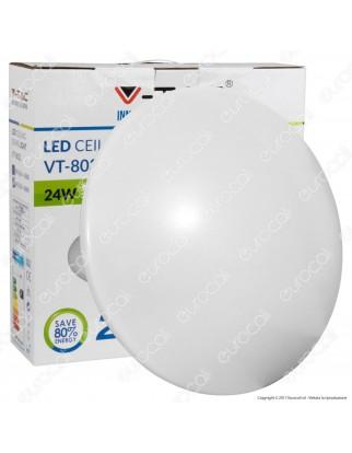 V-Tac VT-8032RD Plafoniera LED 24W Forma Circolare Colore Bianco - SKU 1415 / 5565 / 5564