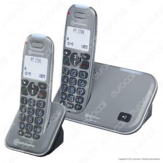 Amplicomms PowerTel 1702 Set 2 Telefoni Cordless per Portatori di Apparecchi Acustici