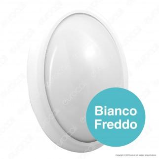 V-Tac VT-8016 Plafoniera LED 12W Forma Ovale Colore Bianco - SKU 5054 / 5053
