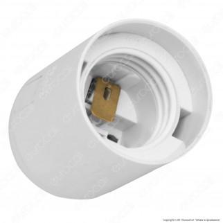 Wiva Portalampada Liscio E27 250V 4A in LCP - Colore Bianco o Nero