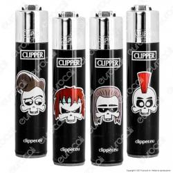 Clipper Micro Fantasia Rock & Skull - 4 Accendini