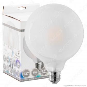 SkyLighting Lampadina LED E27 8W Globo G125 Frost Filamento