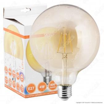 Skylighting Lampadina LED E27 8W Globo G125 Filamento Ambrata