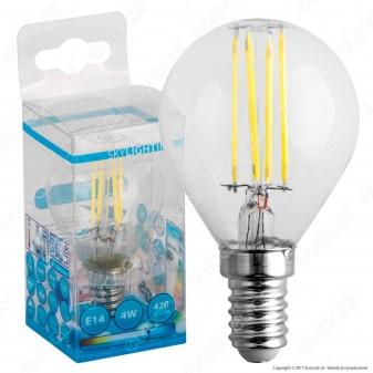 SkyLighting Lampadina LED E14 4W MiniGlobo P45 a Filamento