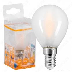 SkyLighting Lampadina LED E14 4W MiniGlobo P45 Frost Filamento - mod. MGFL-1404SC / MGFL-1404SD / MGFL-1404SF