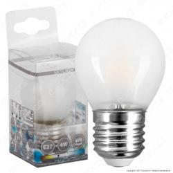 SkyLighting Lampadina LED E27 4W MiniGlobo G45 Frost Filamento - mod. MGFL-2704SC / MGFL-2704SD / MGFL-2704SF