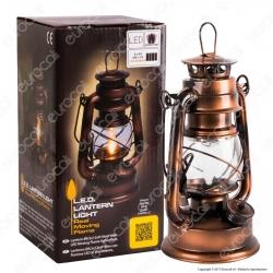 Lanterna LED in Metallo con Effetto Fiamma Accesa