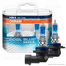 Osram Cool Blue Hyper+ Effetto Xenon HID Per Off Road - 2 Lampadine HB4