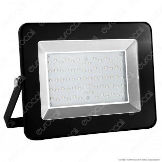 V-Tac VT-46100 I-Series Faretto LED SMD 100W Ultrasottile da Esterno Colore Nero - SKU 5887 / 5888