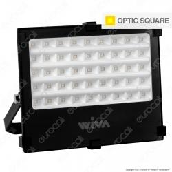 Wiva Optic Square Faretto LED SMD 50W Ultra Sottile Colore Nero - mod. 91100910