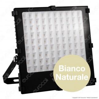 Wiva Optic Square Faretto LED SMD 100W Ultra Sottile Colore Nero