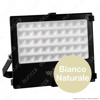 Wiva Optic Square Faretto LED SMD 50W Ultra Sottile Colore Nero