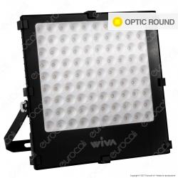Wiva Optic Round Faretto LED SMD 100W Ultra Sottile Colore Nero - mod. 91100902