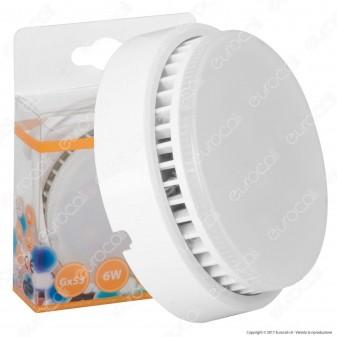 SkyLighting Lampadina LED GX53 6W Bulb Disc con Portalampada